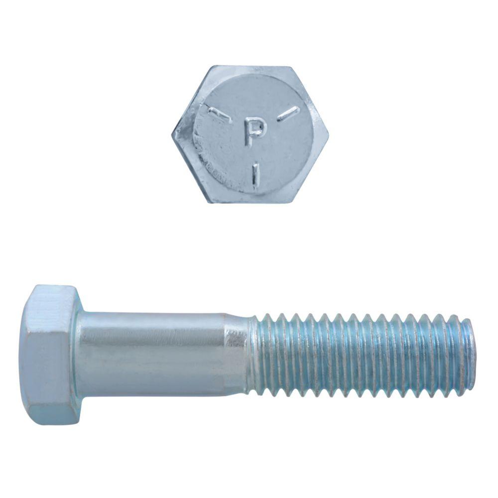 3/8x1-1/2 Boulons Hex Classe 5 Zinc Plaqué Unc