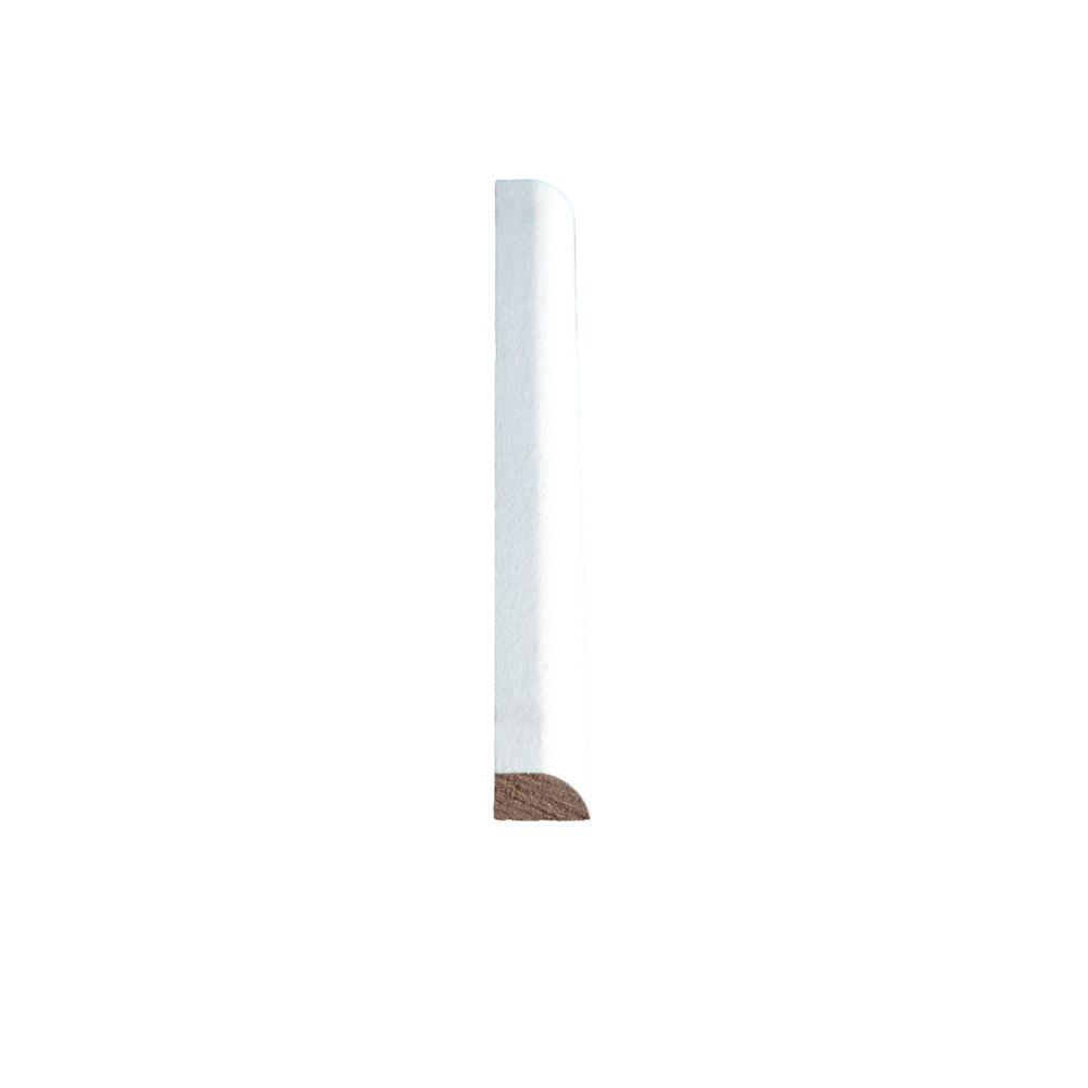 Vinyl Wrap White Base Shoe 7/16 In. x 11/16 In. x 8 Ft.
