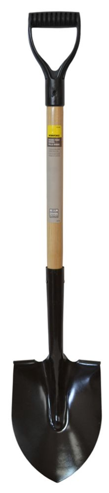 Round Point Shovel with D-grip