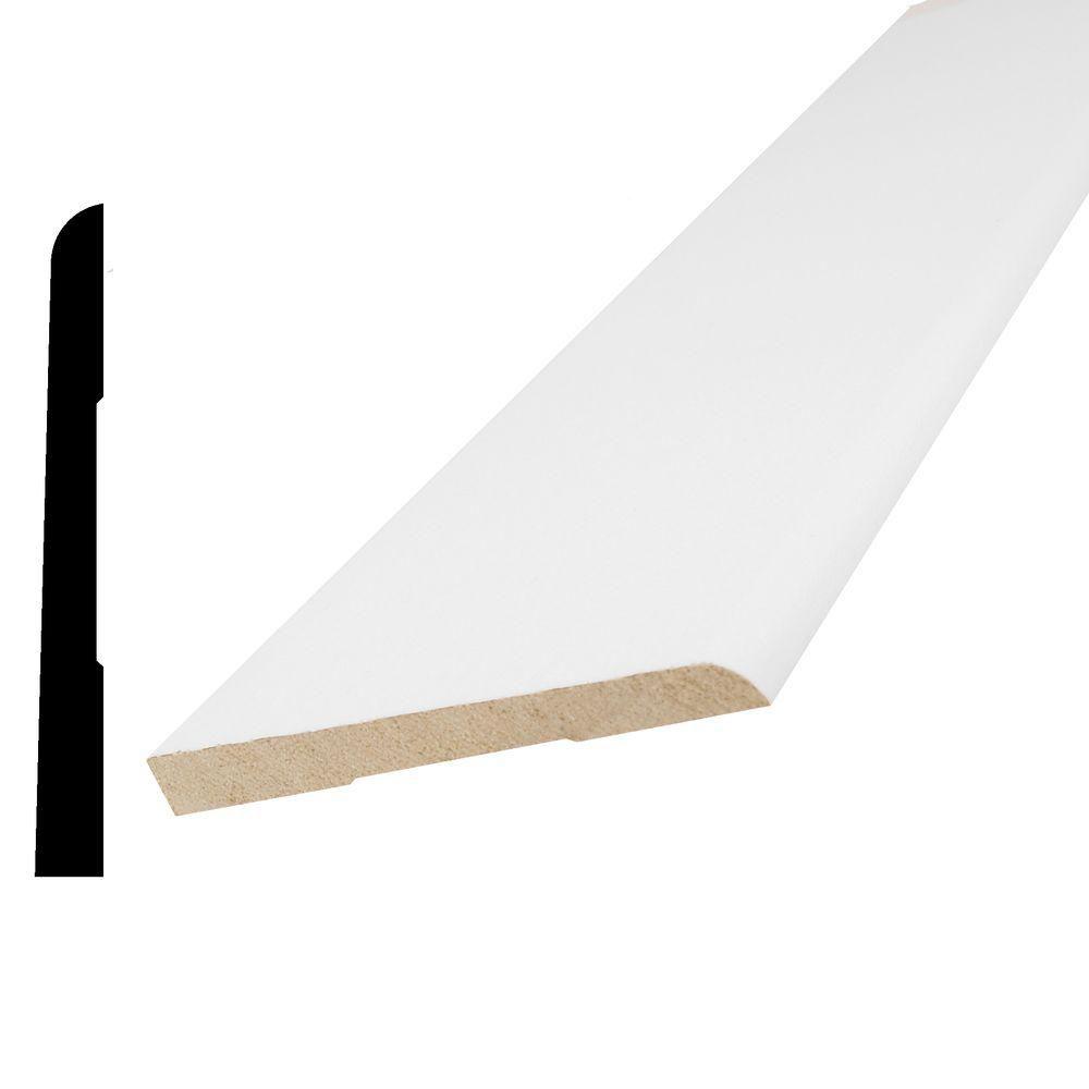 Vinyl Wrap White Bevel Base 5/16 Inches x 3-1/8 Inches x 8 Feet