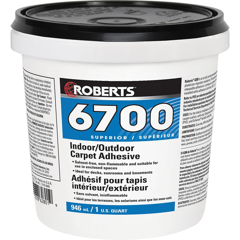 Roberts 6700, 946mL Indoor/Outdoor Carpet Adhesive and Glue