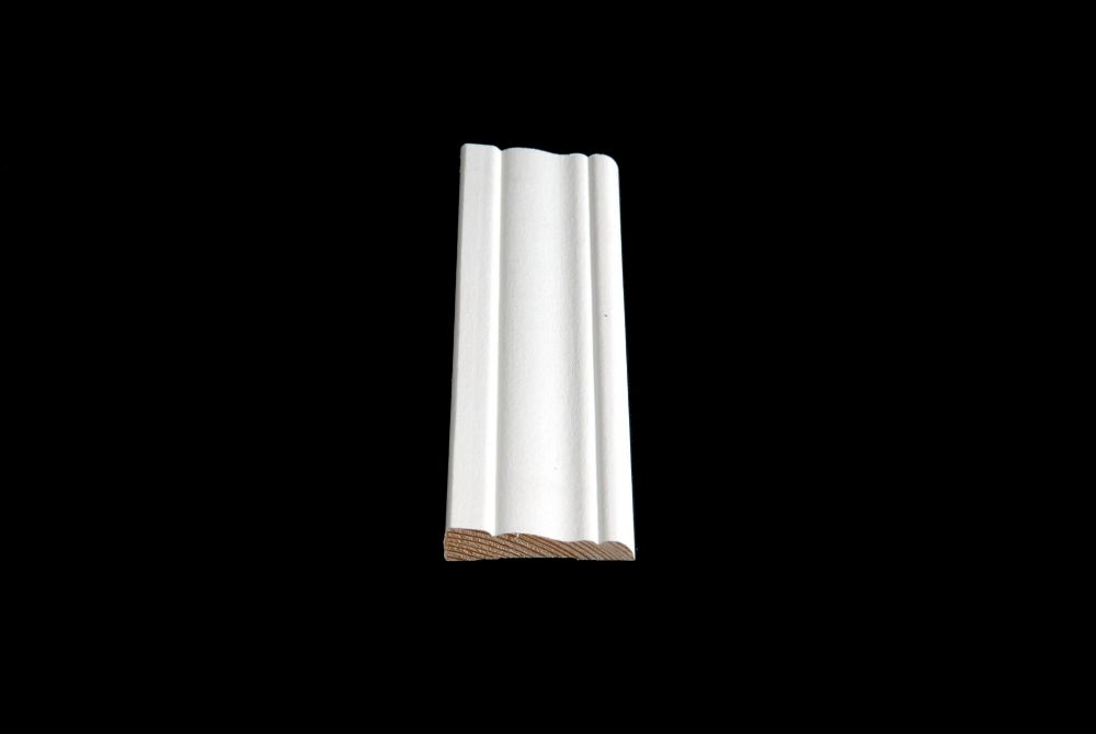 Alexandria Moulding Vinyl Wrap White Colonial Casing 7/16 Inches x 2-1/8 Inches x 7 Feet