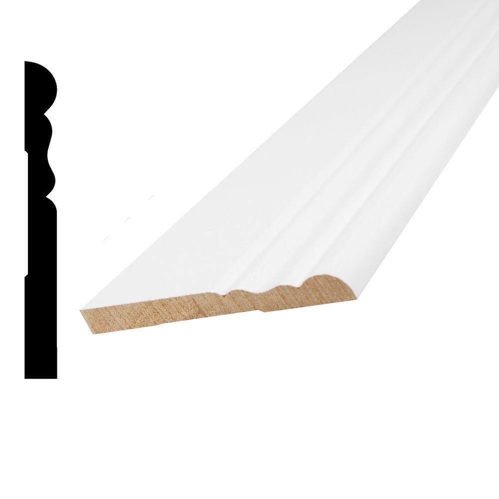 Vinyl Wrap White Colonial Base 5/16 Inches x 3-1/8 Inches x 8 Feet