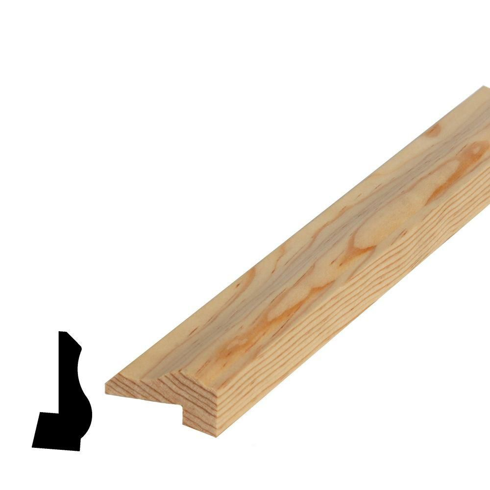 Solid Clear Pine Plycap 13/16 In. x 1-5/8 In. x 8 Ft.