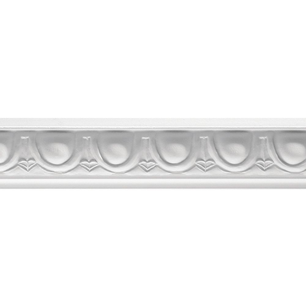 Ornamental Mouldings Primed Finger Joint Egg & Dart Chair Rail 21/32 x 1-9/32 - Sold Per 8 Foot Piece