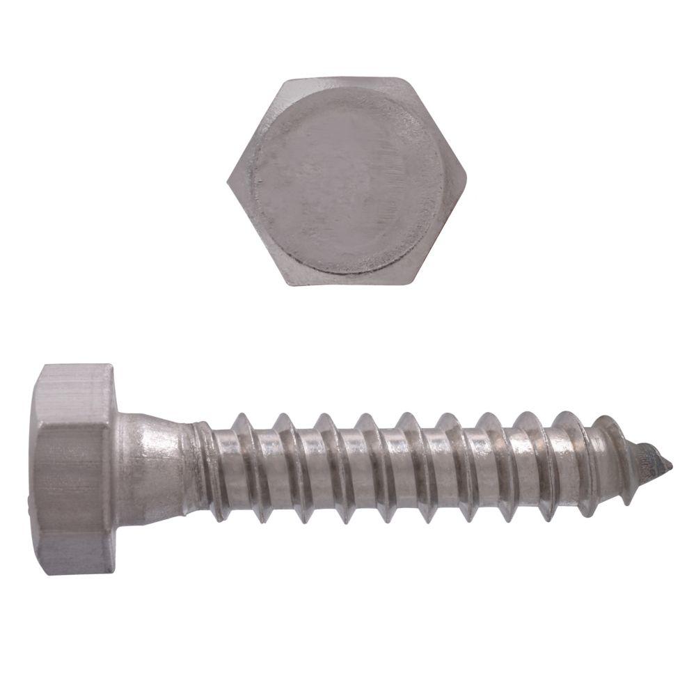 5/16x1-1/2 tire-fond acier inoxydable 18-8