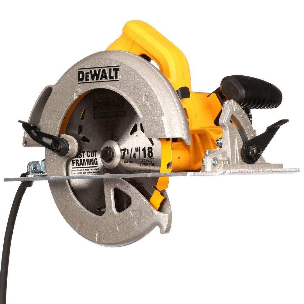 DEWALT 15 amp Corded 7 1/4-inch Lightweight Circular Saw