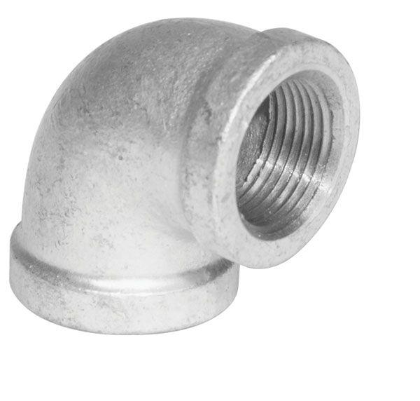 Aqua-Dynamic Fitting Galvanized Iron 90 Degree Elbow 1 inch