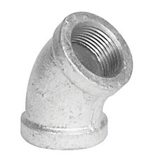 Fitting Galvanized Iron 45 Degree Elbow 1/2 Inch