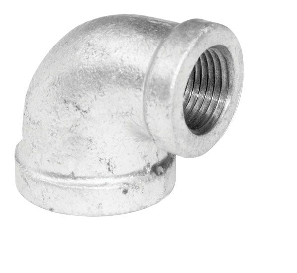 Aqua-Dynamic Fitting Galvanized Iron 90 Degree Reducing Elbow 3/4 Inch x 1/2 Inch