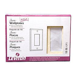 Leviton Plaque, Decora simple, ivoire, emb. de 20