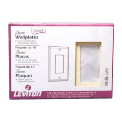 Leviton Ivory Single Deco Wall Plate (20-Pack)