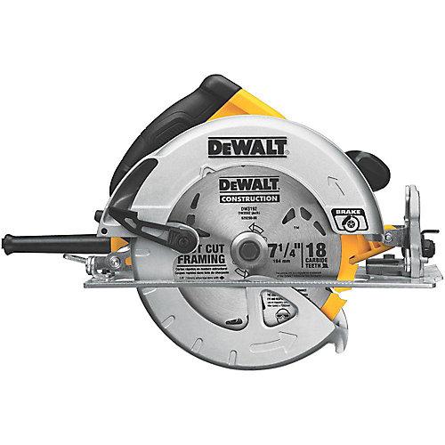 15 Amp 7-1/4-inch Lightweight Circular Saw with Electric Brake