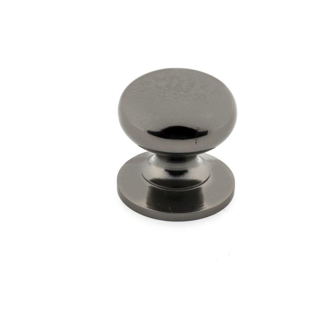 Classic Brass Knob - Black Nickel - 32 mm Dia.