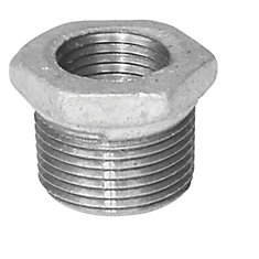 Fitting Galvanized Iron Hex Bushing 1/2 Inch x 1/4 Inch