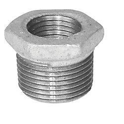 Aqua-Dynamic Fitting Galvanized Iron Hex Bushing 1/2 Inch x 3/8 Inch