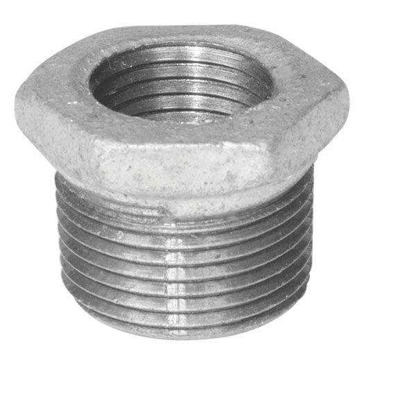 Aqua-Dynamic Fitting Galvanized Iron Hex Bushing 3/4 Inch x 1/2 Inch