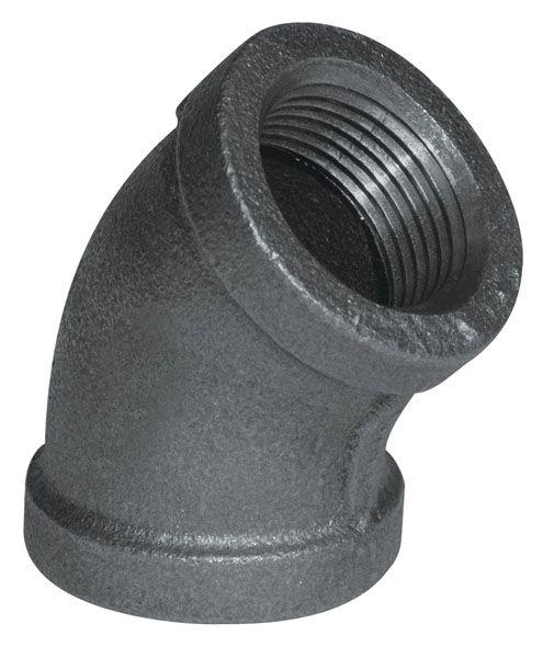 Raccord Fonte Noire Coude 45 Degrés 3/4 Pouce