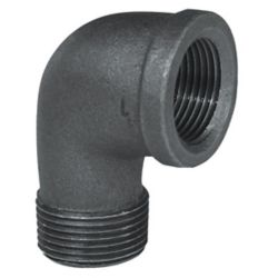 Aqua-Dynamic Fitting Black Iron 90 Degree Street Elbow 3/4 Inch