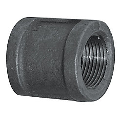 Aqua-Dynamic Fitting Black Iron Coupling 3/8 Inch