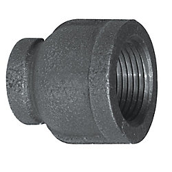 Aqua-Dynamic Fitting Black Iron Reducer Coupling 3/4 Inch x 1/2 Inch