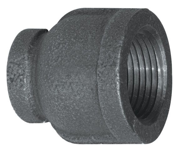 Fitting Black Iron Reducer Coupling 1 Inch x 3/4 Inch
