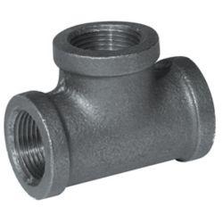 Aqua-Dynamic Fitting Black Iron Tee 1/4 Inch