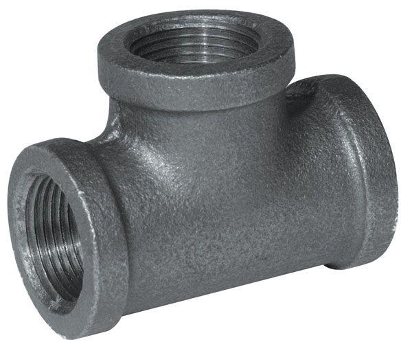 Aqua-Dynamic Fitting Black Iron Tee 1 Inch
