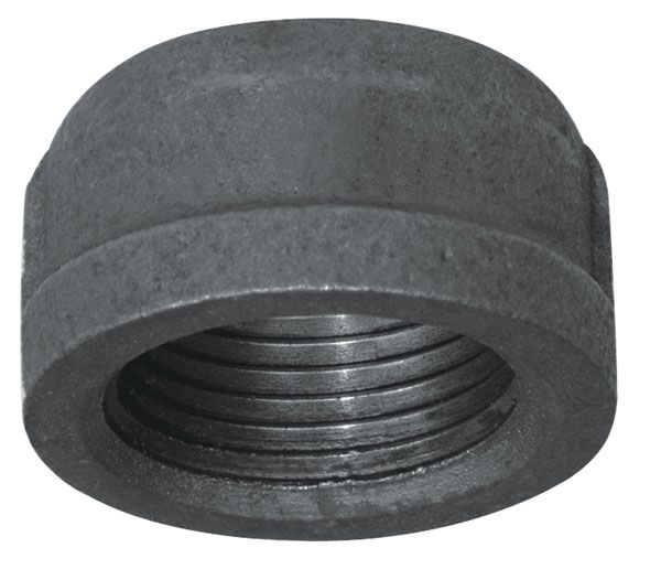 Fitting Black Iron Cap 1/2 Inch