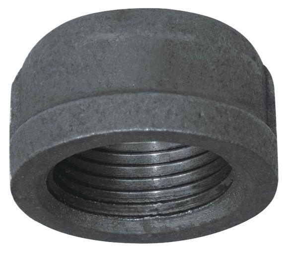Aqua-Dynamic Fitting Black Iron Cap 1/2 Inch
