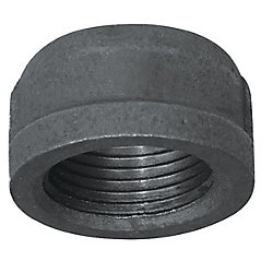 Aqua-Dynamic Fitting Black Iron Cap 1 Inch