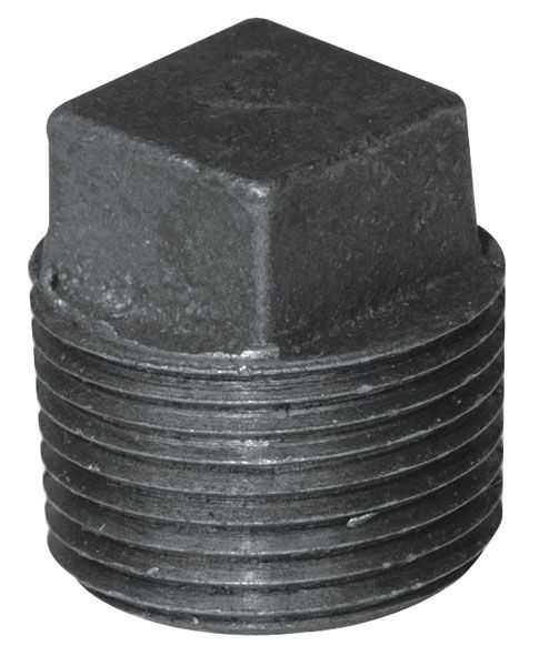 Aqua-Dynamic Fitting Black Iron Plug 1/2 Inch