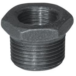 Aqua-Dynamic Fitting Black Iron Hex Bushing 3/8 Inch x 1/8 Inch