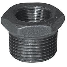 Fitting Black Iron Hex Bushing 1/2 Inch x 3/8 Inch