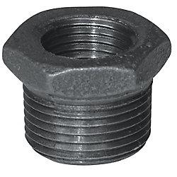 Aqua-Dynamic Fitting Black Iron Hex Bushing 1 Inch x 3/4 Inch