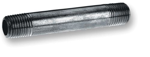 Black Steel Pipe Nipple 1/2 Inch x 4 Inch