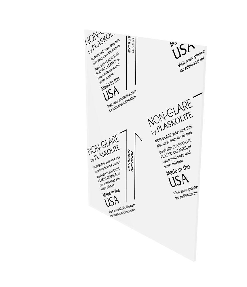 Non Glare Polystyrene Sheet - .050 Inch x 11 Inch x 14 Inch
