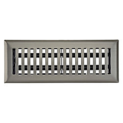 Hampton Bay 3 inch x 10 inch Dome Floor Register - Satin Nickel