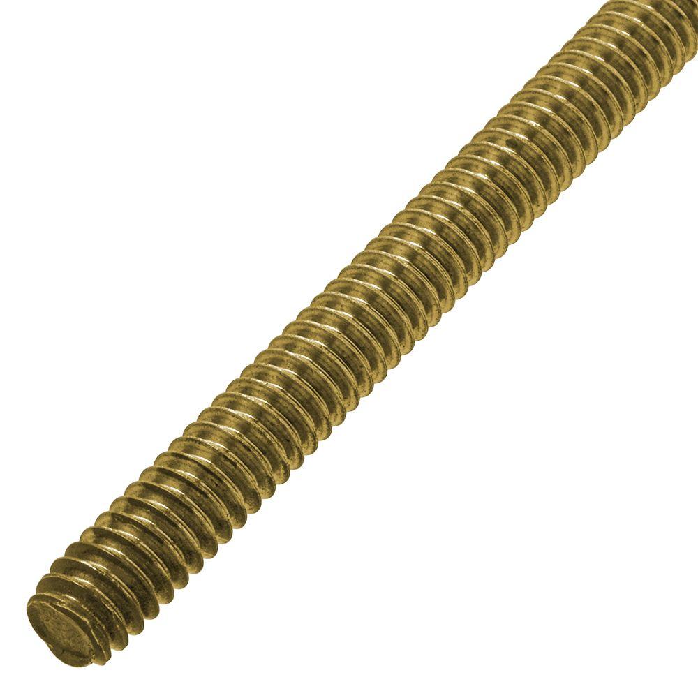 1/4-20 Brass Thread Rod 3'