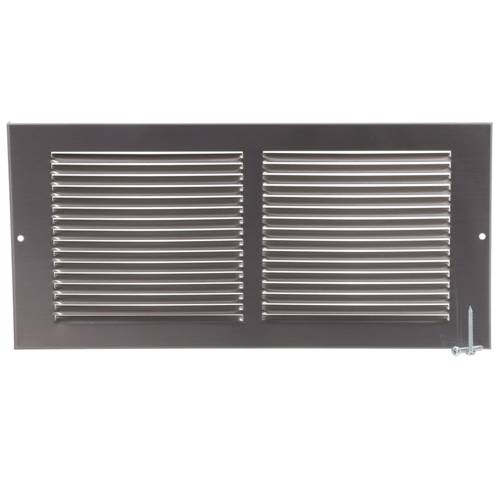 12 x 6 grille murale blanc canada discount for Grille de ventilation murale