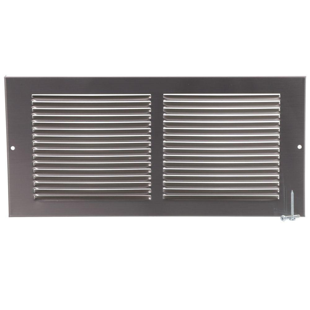 14  x 6  Sidewall Grill - Pewter