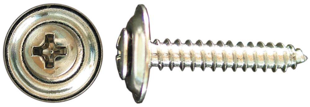 Vis taraudeuses ovale phillips chrome