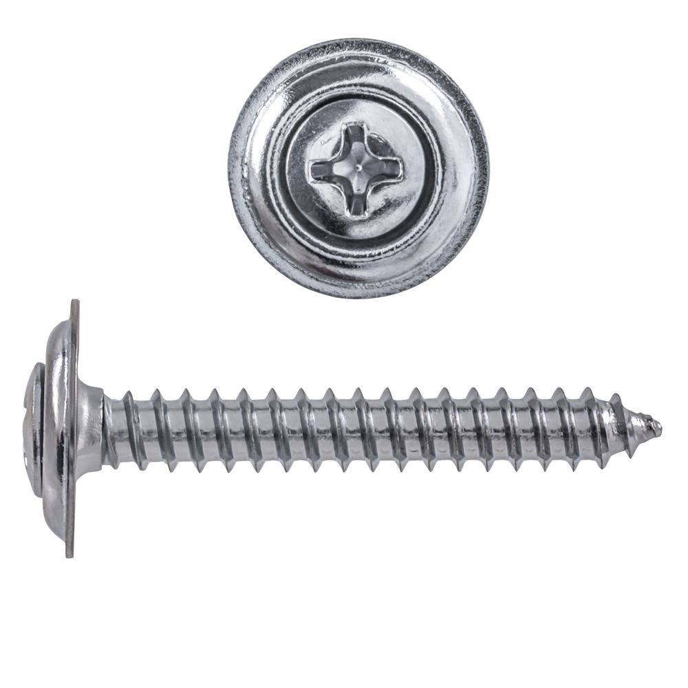 8X1 1/4 Oval Phil Sems Tapping Screw