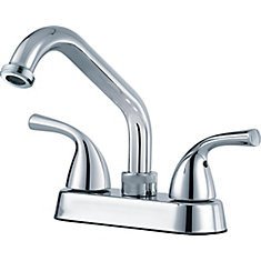 Classic Two Handle Laundry Faucet, Chrome