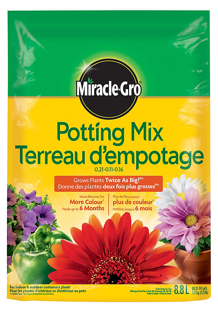 Potting Mix 0.21-0.11-0.16 - 8.8L