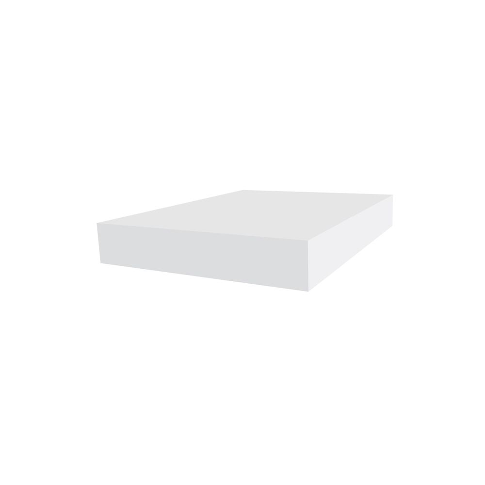 1-inch x 6-inch White Vinyl Trimplank Moulding