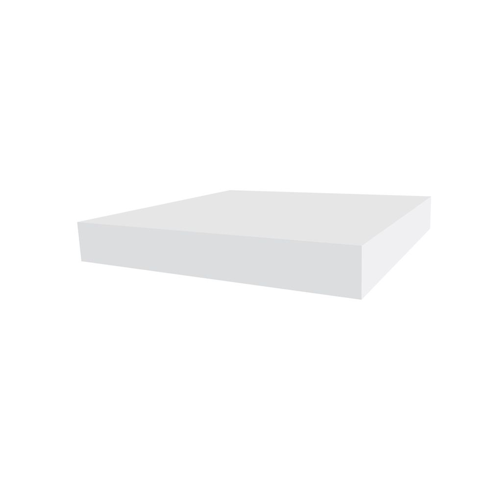 1-inch x 8-inch White Vinyl Trimplank Moulding