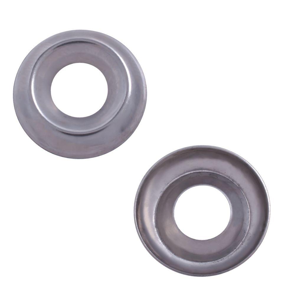 1/4 rondelles finissant acier inox. 18-8