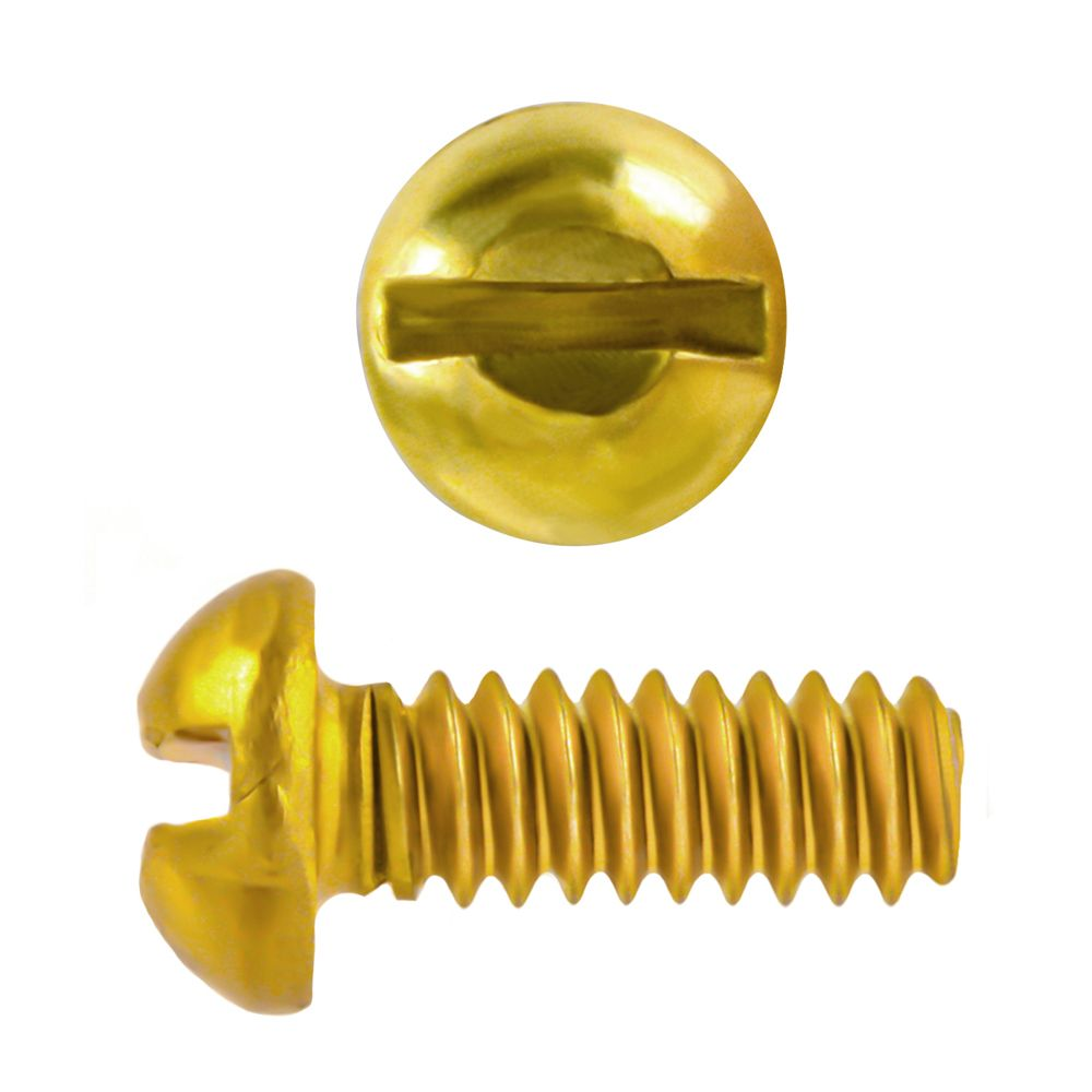 6-32x1/2 Rd Hd Slot Brass Mach Screw
