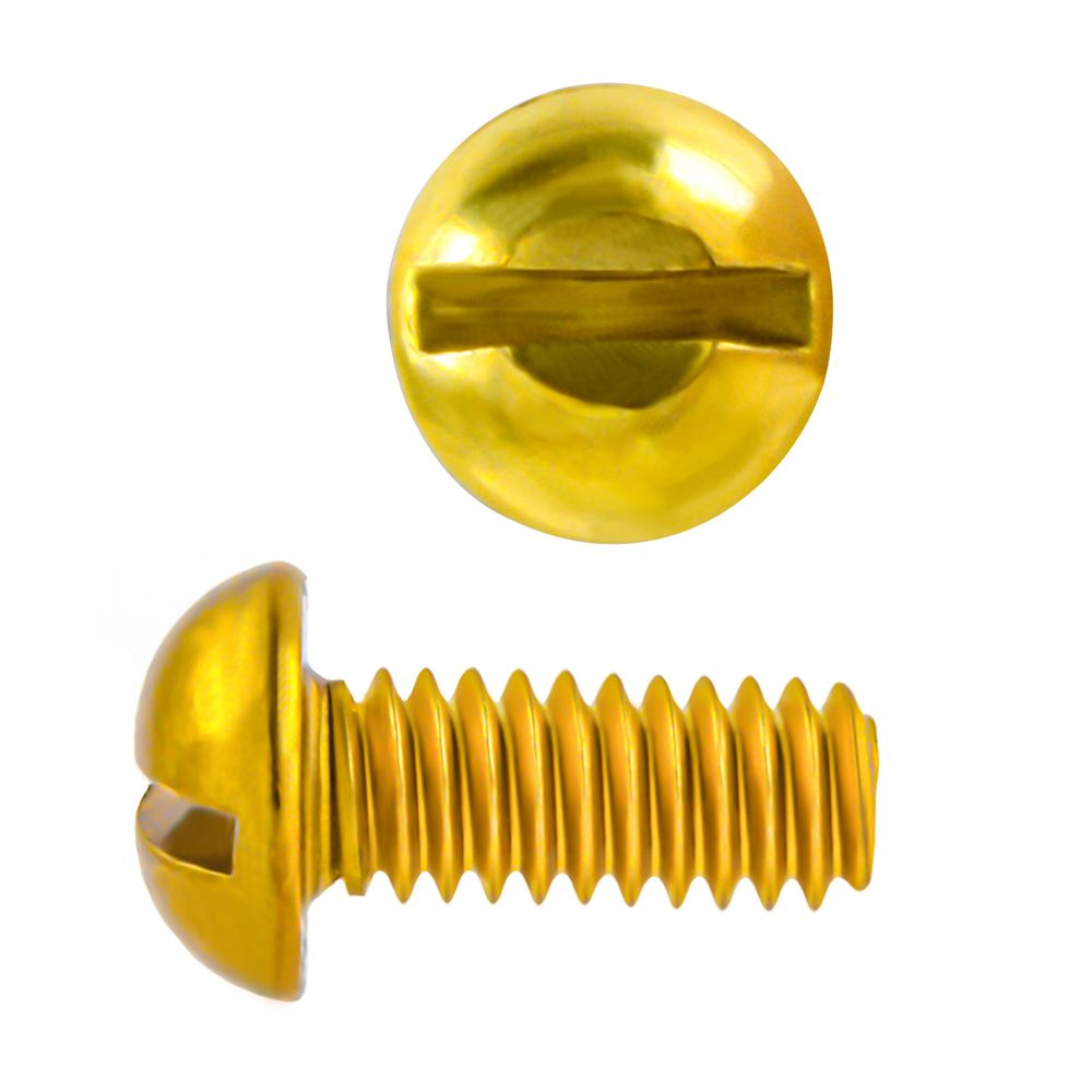 8-32x1/2 Rd Hd Slot Brass Mach Screw